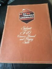 Galanti F40 Owner's  Manual and Playing Guide Songbook Organ Keyboard