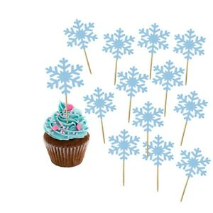 Snowflake Cupcake Toppers Winter Wonderland Frozen Party Christmas Party