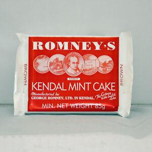 Kendal Mint Cake Romney's Brown Kendal Mintcake  Pack of  4 x 85g Bars