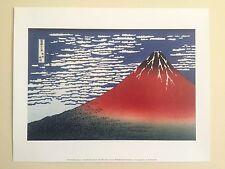 "KATUSHIKA HOKUSAI ORIGINAL LITHOGRAPH FINE ART PRINT "" RED FUJI "" 1831"