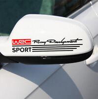 2 x Auto Car Aufkleber Sticker Decal WRC Racing Rückspiegel  rot schwarz