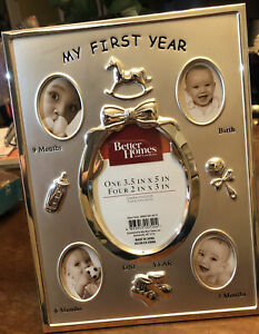 """Better Homes and Gardens """"My First Year"""" Baby Frame Birth-9 Months 7.5 x 9.8 In"""