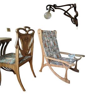 A&O Art Nouveau style, Champagne Saucer Alexadrol wingback chair