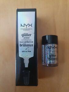 NYX Professional Makeup Glitter Primer & Face & Body Glitter - RRP £15