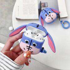 For Apple Airpods Case 3D Cute Disney Animals Eeyore Earphone Bag strap Cover