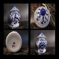 Ceramica Boccetta IN Porcellana Cina Art Nouveau Design Vintage PN Xxe N142