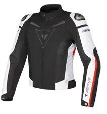Chaqueta de Moto Dainese Super Speed Tex Negro/Blanco/Rojo Tamaño: 54 Verano