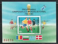 Romania 1990 MNH Mi Block 260 World Cup Soccer.Italy'90 ** Football **
