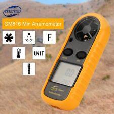 GM816 Digital Anemometer Handheld Thermometer Wind Speed Meter Airflow Gauge AZ