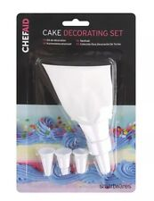 NEW Chef Aid Cake Icing  Decorating Set bag 4 Nozzles