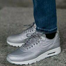 Nike Air Max 1 Ultra JCRD Metallic Silver Leather Women Girls Boys UK 2.5