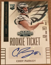2014 Panini Contenders Rookie Autograph Cody Parkey #245 Philadelphia Eagles