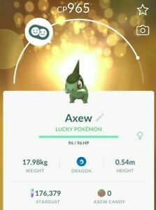 Pokemon Go AXEW (L35 Option) High CP (SEE DESCRIPTION)