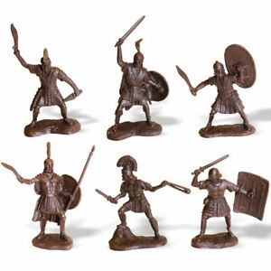 Roman Soldiers Military Figures Toy Set of 6 Collectibles Figurines