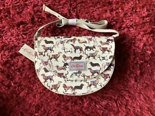 Cath Kidston Mini Saddle Bag Sketchbook Dog Ivory Colour New with Tags