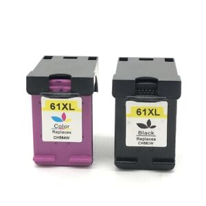 Remanufactured Ink Cartridges Replacement for HP 61 XL 61XL Black & Color 2 Pack