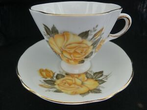 Royal Windsor England Yellow Rose Fine Bone China Tea Cup and Saucer