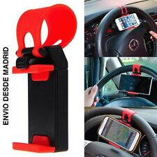 SOPORTE MOVIL PARA VOLANTE COCHE UNIVERSAL IPHONE SAMSUNG LG NOKIA HUAWEI