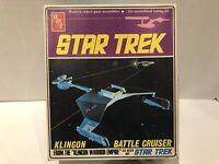 "AMT Klingon Alien Battle Cruiser ""As Seen On Star Trek ""vintage. Unassembled."