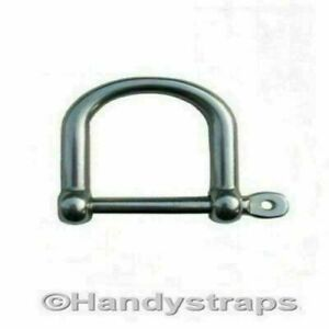 Dee Shackles D Shackle 6mm Wide Jaw Stainless Steel Lifting