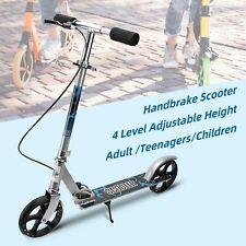 Pro Adult Kids Folding Kick Scooter Adjustable Height w/ Handbrake Large Wheels