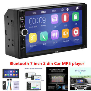 """7"""" Bluetooth Car Stereo Radio 2DIN HD MP5 Touch Screen IOS/Android Mirror Link"""