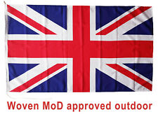 More details for union jack flag mod approved dye sublimation sewn around 5x3ft rope toggled uk