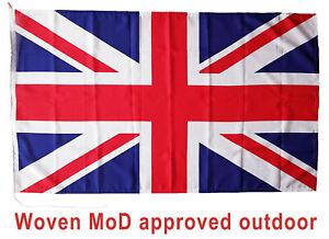 Union Jack flag MoD approved dye sublimation sewn around 5x3ft rope toggled UK