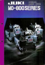 Juki MO-800 Series Industrial Sewing Machine Original Factory Dealer Brochure