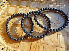 171-Bracelet boules de jais 6mms-Esotérisme-Protection magie noire
