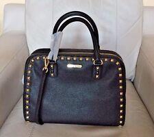 MICHAEL Michael Kors Sandrine  Stud Black Large Satchel Shoulder Bag NWT $428.00