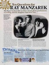 Doors Ray Manzarek 'Mojo' Interview Clipping