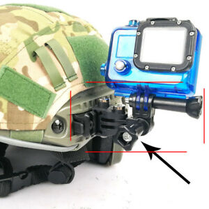 Multi-Angle Gopro Hero Sports Camera Base Mount for MICH Fast Helmet Guide Rail