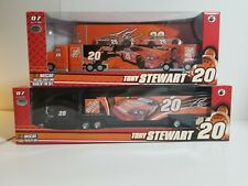 """2 """"NEW"""" WINNERS CIRCLE TONY STEWART #20 HOME DEPOT TRACTOR TRAILER 1/64TH SCALE"""