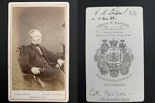 C. M. Poulsen, homme politique, botaniste, Copenhague, 1872 CDV Vintage albumen