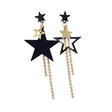 Women Gold Plated Star Rhinestone Drop Dangle Long Ear Stud Earrings Jewelry New
