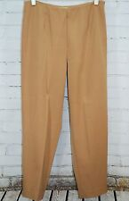 TravelSmith Women's 14 Flat Front Casual/DressvPants Khaki Stretch Style 5562