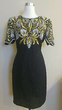 Laurence kazar embellished womens dress size PS black 2-002