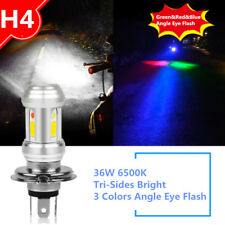 36W H4 3000LM 6500K Tri-Sides Bright LED High-Low Beam Motorcycle Headlight Bulb