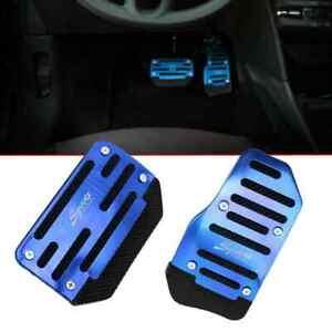2x Blue Universal Car Automatic Brake Foot Pedal Pad Cover Accelerator Pad Cap