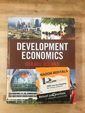 Development Economics by Gérard Roland (2013 Hardcover) Pearson