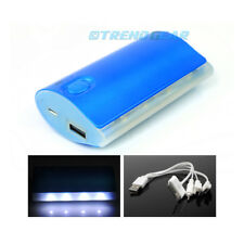 5200MAH BACKUP BATTERY CHARGER MICRO USB BLUE GALAXY S3 S4 NOTE TAB KINDLE FIRE