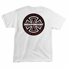 Independent Trucks Lines Bc Skateboard Shirt White Medium