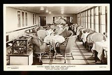 RMS Queen Elizabeth Photo Postcard - 1st Class Garden Lounge - Cunard Line