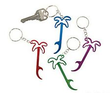 12 PALM TREE BOTTLE OPENER METAL KEY CHAINS Assorted colors NEW HUGE LOT LUAU
