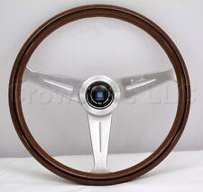 Nardi 390mm Classic Steering Wheel Mahogany Wood with Satin Spokes 5051.39.6300