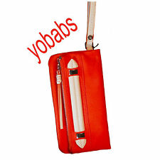 Vera Wang Ingrid Orange Wristlet Evening Bag Purse SVSLG-1317 NWT SEE ALL