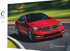 2014 Mercedes Benz C-Class C250 C300 C350 C63 AMG 32-page Sales Brochure Catalog