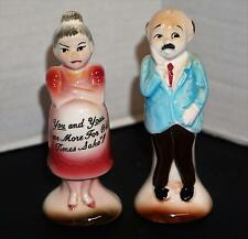 Vintage Salt & Pepper Shakers Japan Pregnant Couple One More Time Old Times Sake