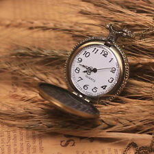 Vault Electronic Game Vintage Bronze Chain Pendant Pocket Watch Time Necklace